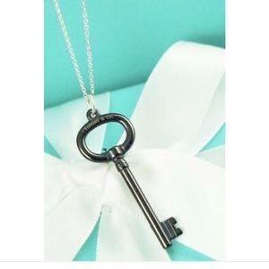 Tiffany & co. Sterling silver titanium pendant key